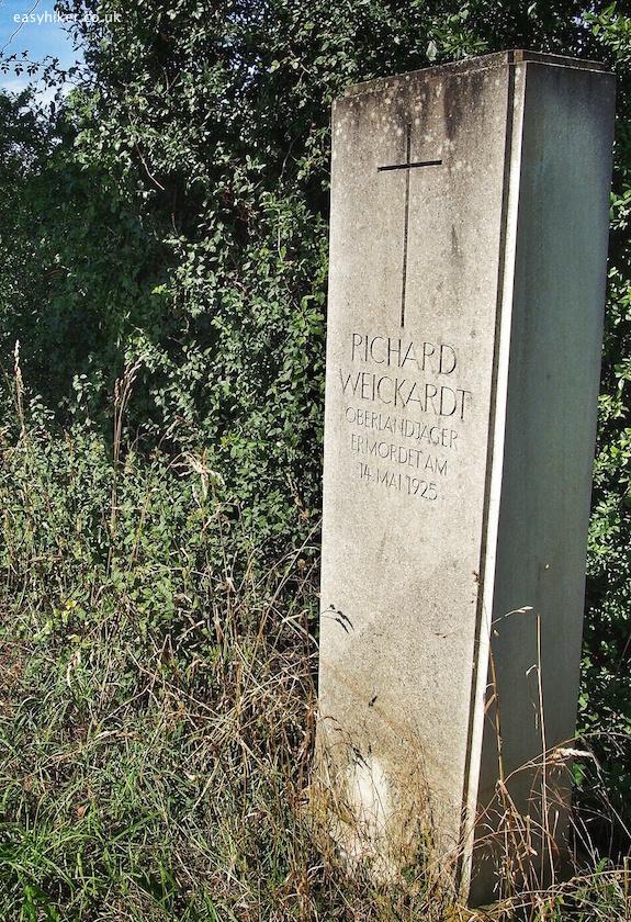 """roadside shrine for a murdered policeman in northwest germany"""