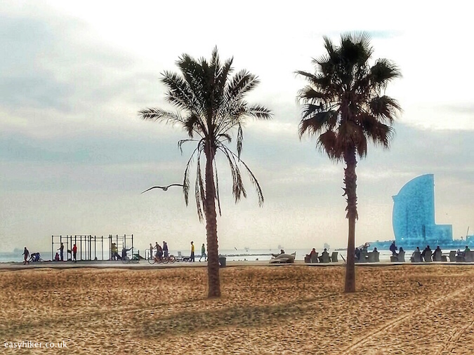 """playground by Barceloneta beach - Barcelona City Walks"""