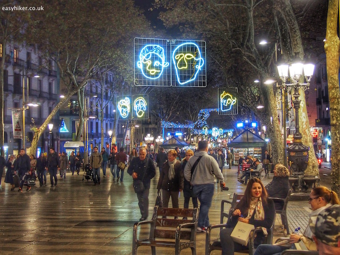 """Barcelona City of Christmas Lights at Les Rambles"""