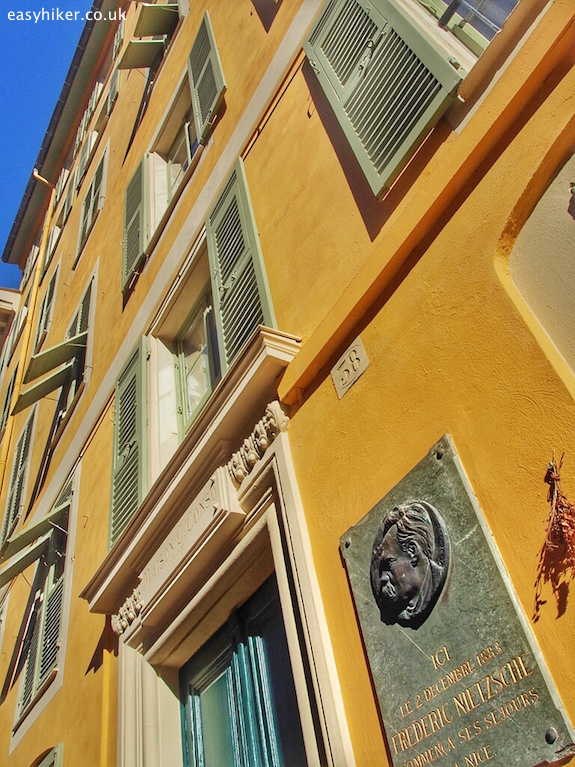 """Trail of Famous Writers in Nice - where Nietsche lived"""