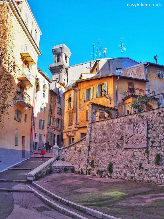 """old town - Trail of Famous Writers in Nice"""