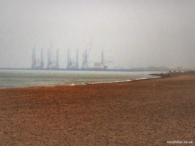 """bleak view of the Great Yarmouth harbour - following the greatest literary work about hiking"""