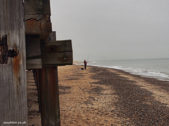"""beach front of Great Yarmouth - following the greatest literary work about hiking"""
