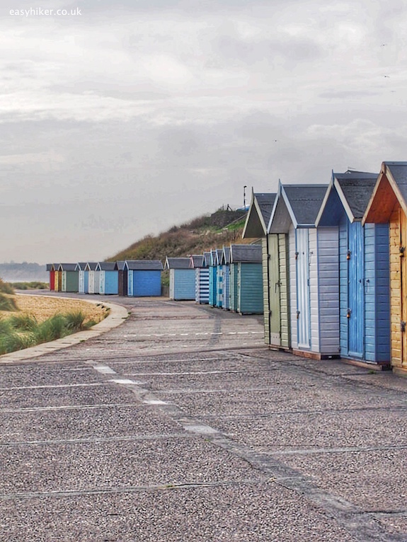 """Lowestoft beach front on quest of Sebald in the Suffolk Coast Path"""