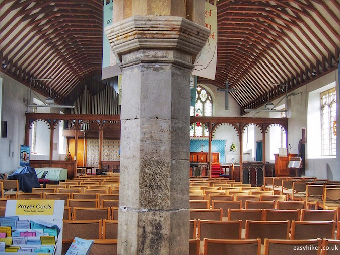 """inside church with two altars in Lowestoft on the Suffolk Coast Path"""