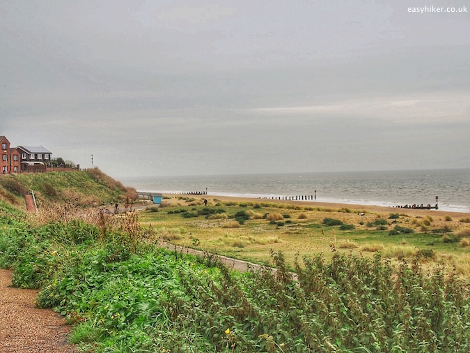 """beach front of Lowesttoft on the Suffolk Coast Path"""