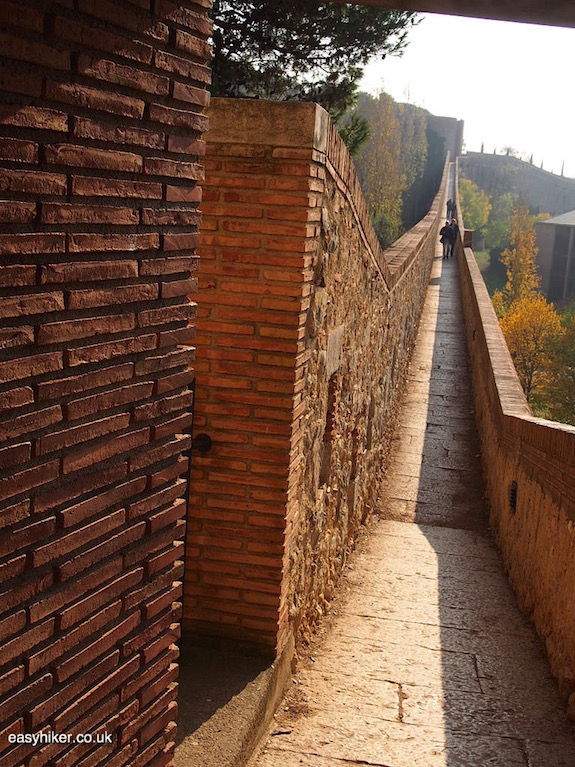 """part of the Great Wall of Catalonia in Girona"""
