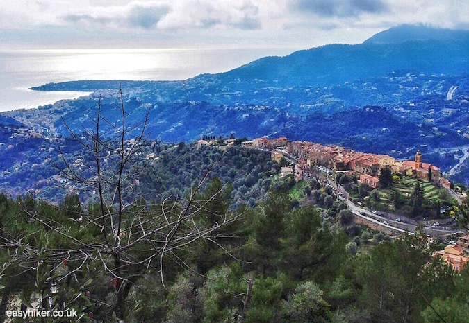 """Hope to Scrape the Riviera Clouds Hiking Up Castellar"""