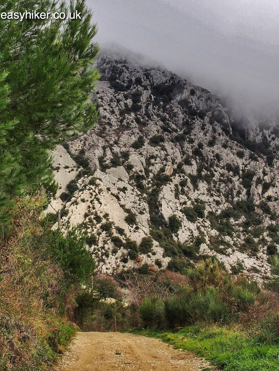 """Hope to Scrape the Riviera Clouds Hiking Up Castellar by the Ormea rock"""