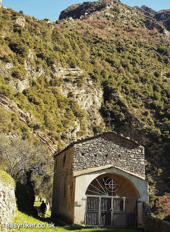 """St Anthony Chapel along a Sporty Hike in Breil sur Roya"""