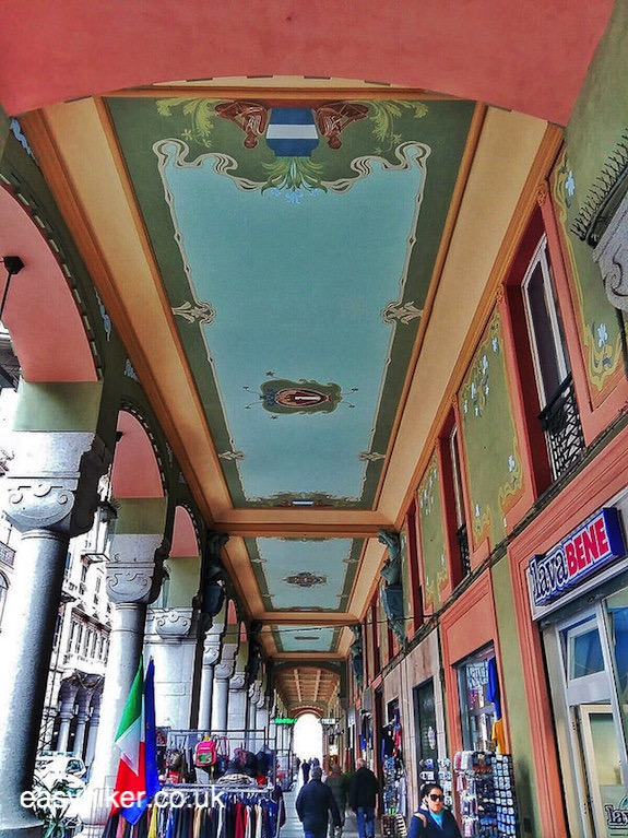 """ceiling of a covered alley in Savona - Surprise Package of the Italian Riviera"""