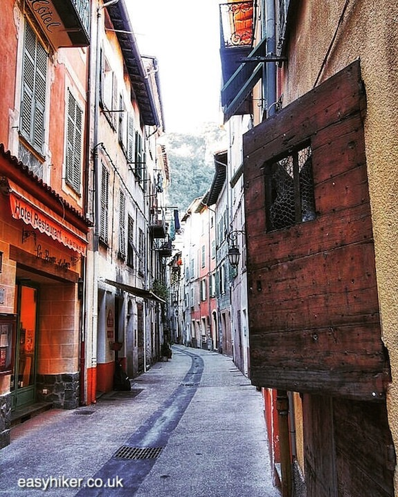"""a street in Breil sur Roya - a visit for a Sporty Hike"""