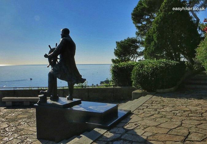 """a statue in one of the Hidden Gardens of Monaco"""