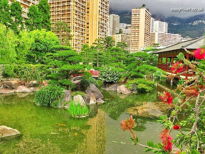 """Japanese themed garden, one of the Hidden Gardens of Monaco"""