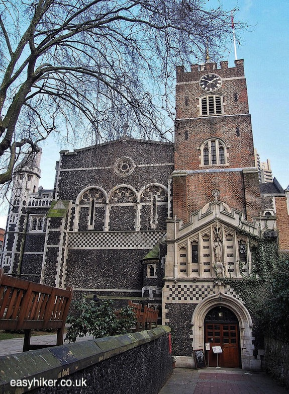 """St Bartholomew the Great's church on a London walk not for the fainthearted"""