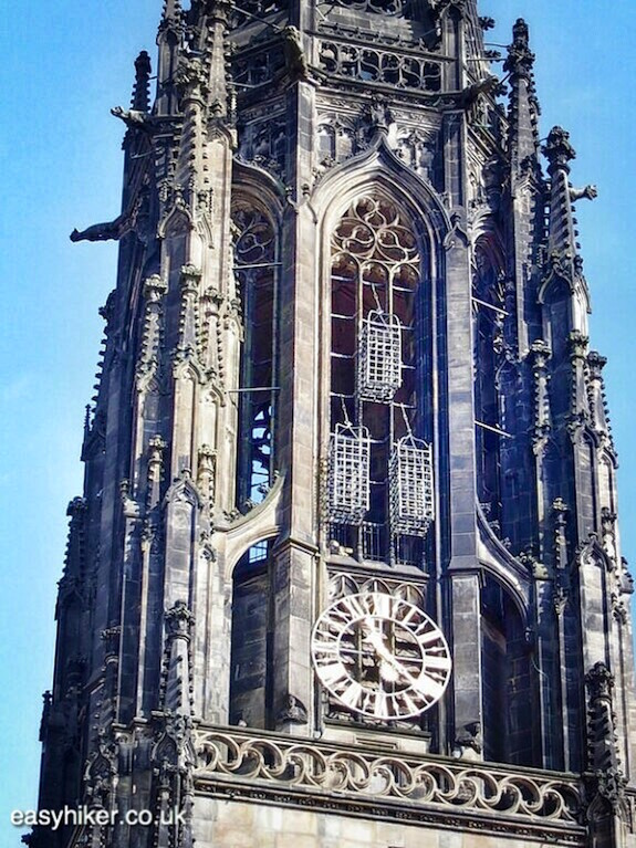 """""""cages of the three Anabaptist leaders by Lothar Baumgarten in Muenster a modern art hotspot"""""""