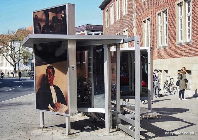 """Dennis Adams's two-sided Bus Shelter IV in Muenster a modern art hotspot"""