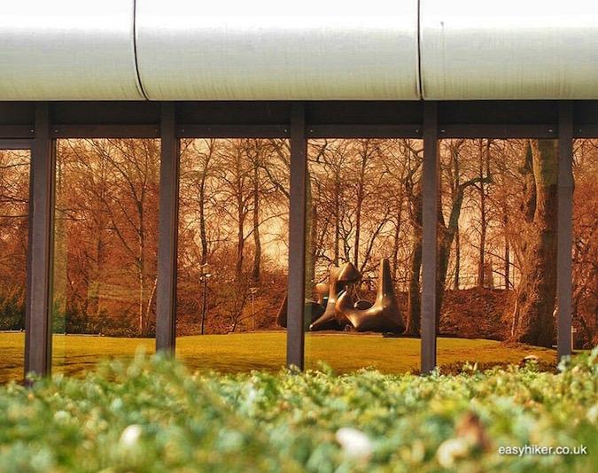 """""""a sculpture by Moore reflected in Muenster a modern art hotspot"""""""