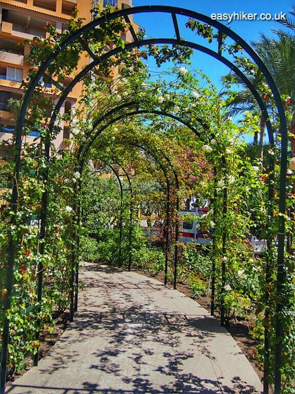 """the Roseraie, one of the Hidden Gardens of Monaco"""