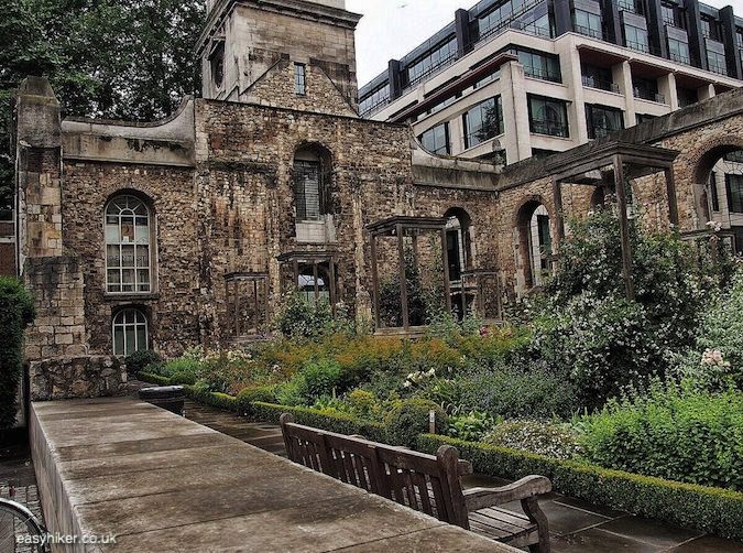 """ruins of Christchurch Greyfriars on a London walk not for the fainthearted"""