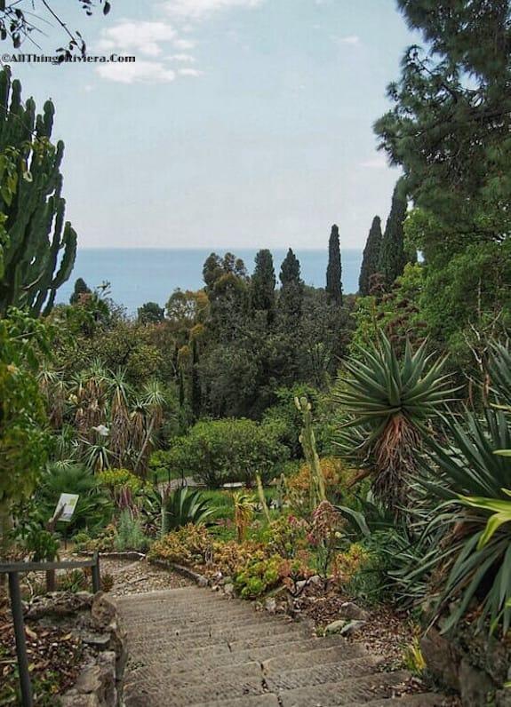 """entering the greatest of all Riviera gardens - Hanbury Gardens"""