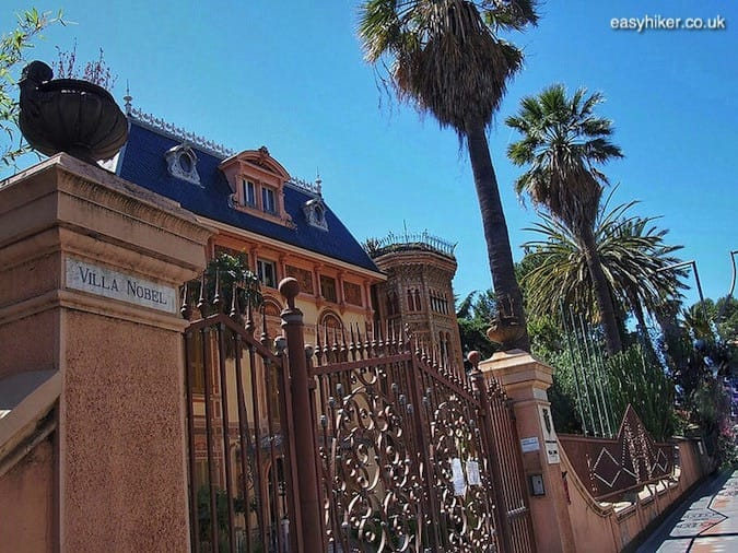 """Villa Nobel along the Professional Cycling trail in Sanremo"""