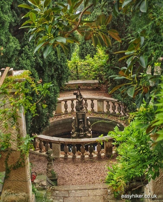 """""""another fountain in Hanbury - the greatest of all Riviera gardens"""""""