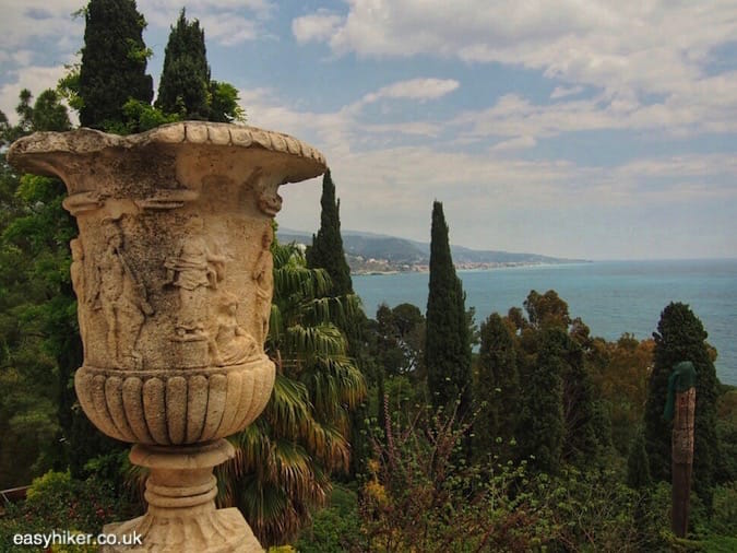 """""""view to the mediterranean seas from the greatest of all Riviera gardens"""""""