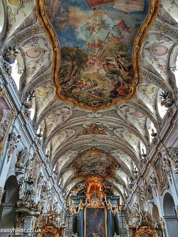 """inside a sumptous baroque church - Regensburg you got a heart of stone"""