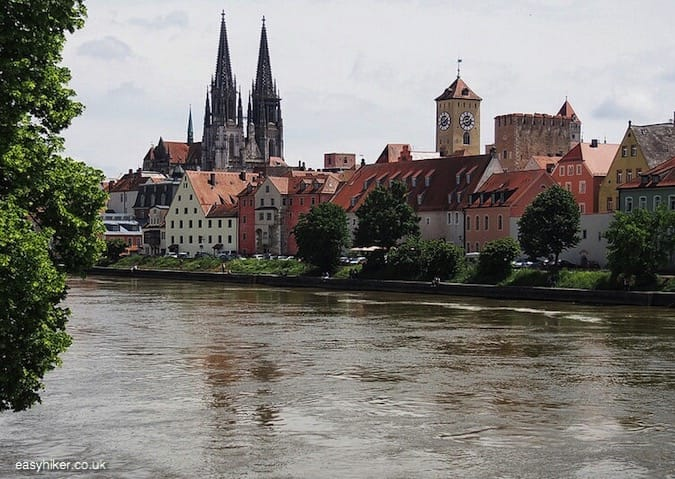 """""""view of town of Regensburg - Prelude to a Blue Danube Dream"""""""