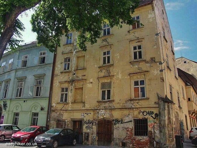 """""""crumbling building - Danube in Bratislava"""""""