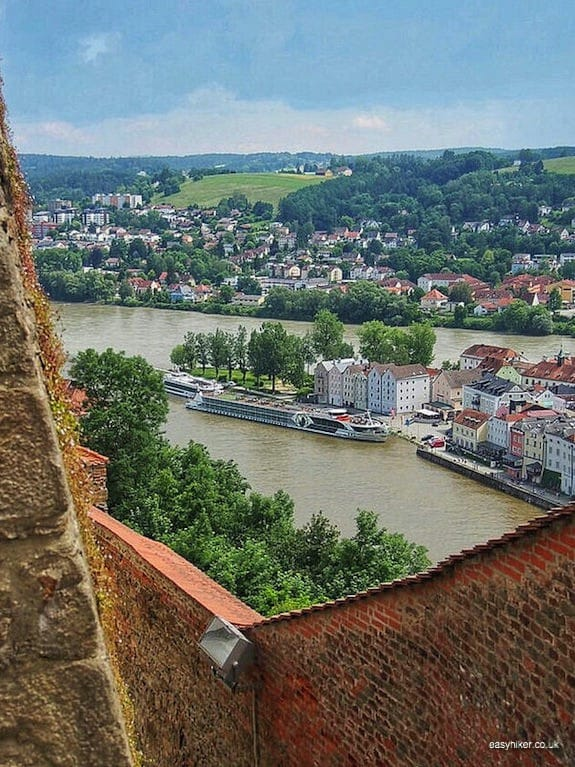 """three rivers in Passau - Second Movement of the Blue Danube"""