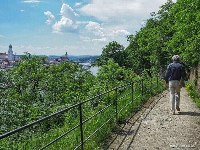"""gentle hike to highest point of Passau - Second Movement of the Blue Danube"""