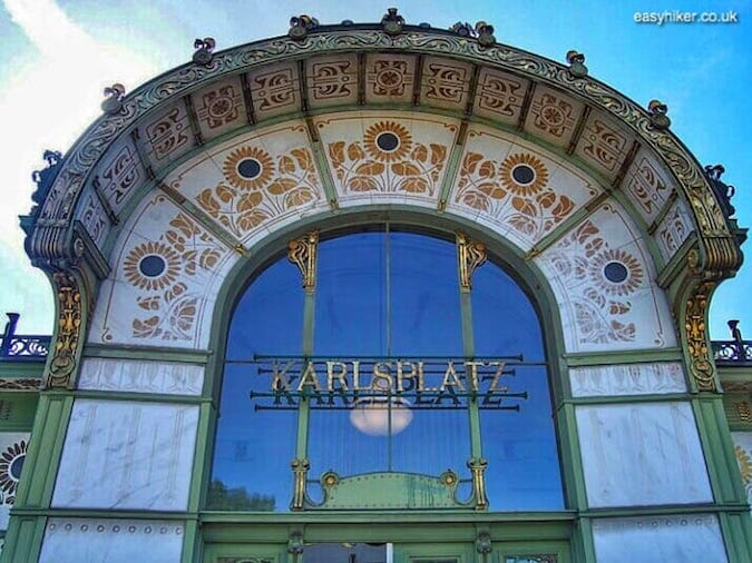 """Karlsplatz subway station - ""another Art Nouveau building by Otto Wagner - More Lies About Vienna"""""