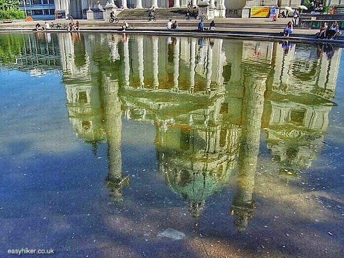 """reflection of Karlsplatz - More Lies About Vienna"""