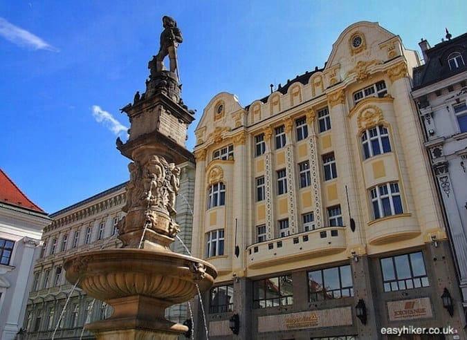 """""""statue in town center - Danube in Bratislava"""""""
