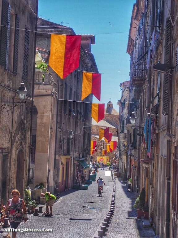 """""""narrow street in Ventimiglia old town - Recommended Brief Visit to Italy"""""""