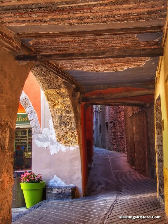 """""""alley in Sospel - Most Storied Backcountry Village in the French Riviera"""""""