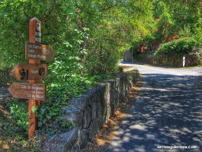 """trail signs - Most Storied Backcountry Village in the French Riviera"""