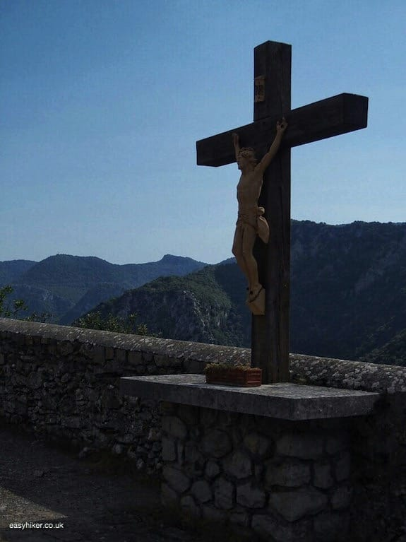 """cruficifix in front of the church - Go Hiking on the French Riviera"""