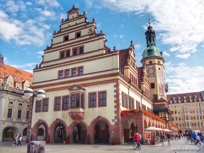 """old City Hall in the historical old town of Leipzig"""