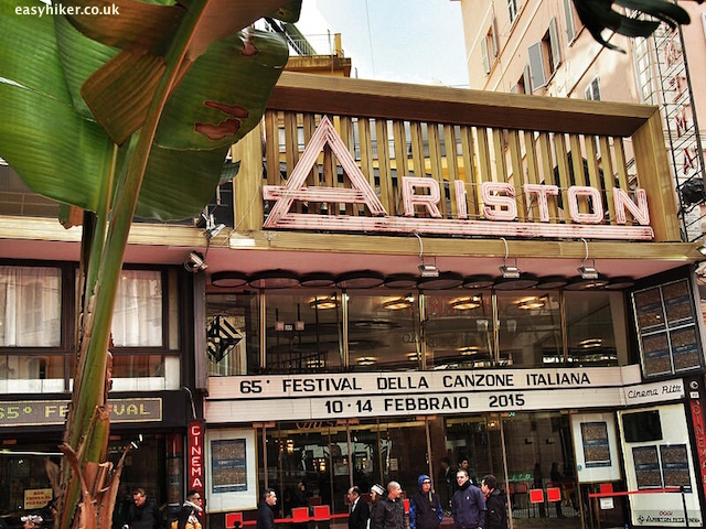 """Ariston theatre in Sanremo - what made Sanremo famous"""