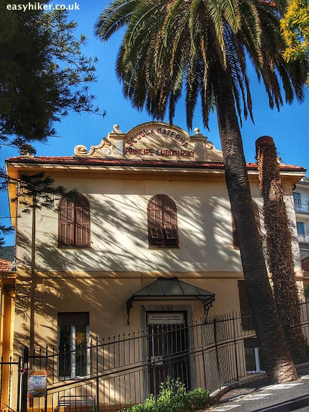 """School in Ospedaletti old town - what made sanremo famous"""