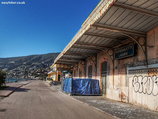 """old railway station at Ospedaletti - what made Sanremo famous"""