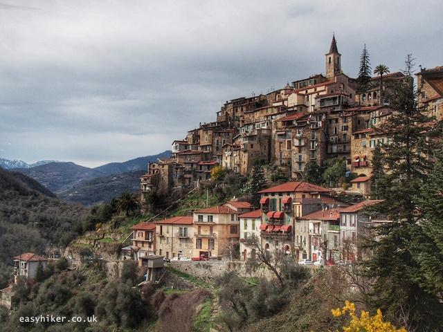 """Village perched on Ligurian Hills"""