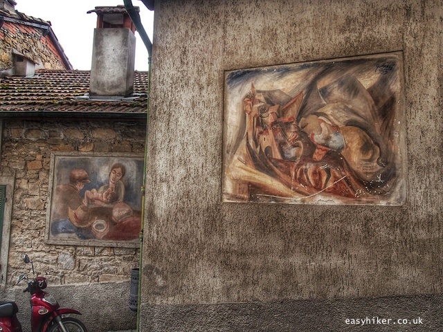 """""""paintings on the old house walls in Apricale"""""""