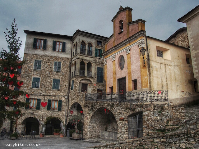 """""""town piazza of Apricale"""""""