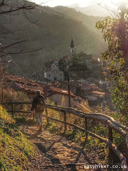 """""""hiking trail in the Ligurian Hills of Apricale"""