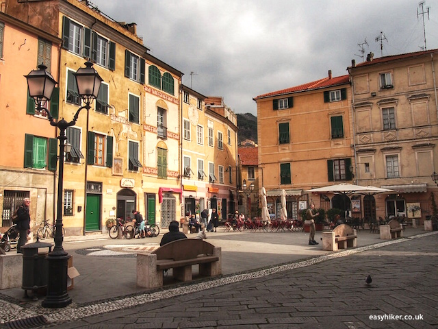 """piazza of Finalborgo - through five walks of Finale Ligure"""
