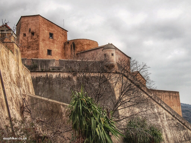 """Old Spanish fort seen from five walks of Finale Ligure"""